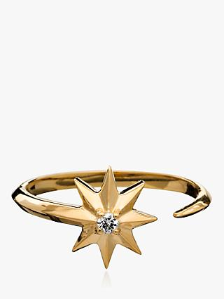 Rachel Jackson London Shooting Star Adjustable Diamond Ring