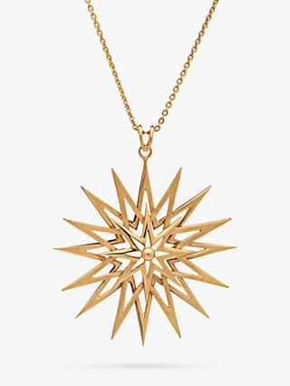 Rachel Jackson London Long Rock Star Pendant Necklace, Gold