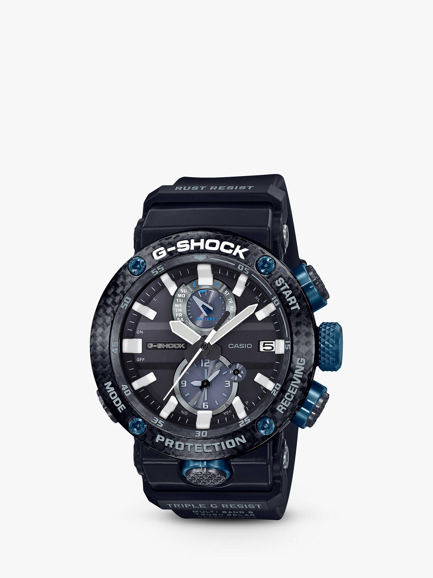 Casio GWR-B1000-1A1ER Men's G-Shock Gravity Master Chronograph Carbon Resin  Strap Watch, Black