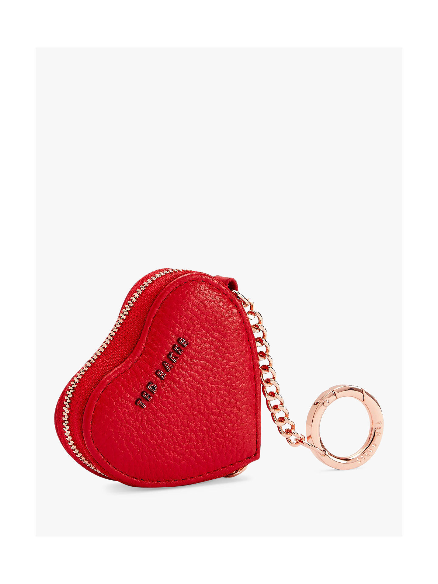 cb3a594c4069bb Ted Baker Kahi Leather Heart Coin Purse Keyring at John Lewis   Partners