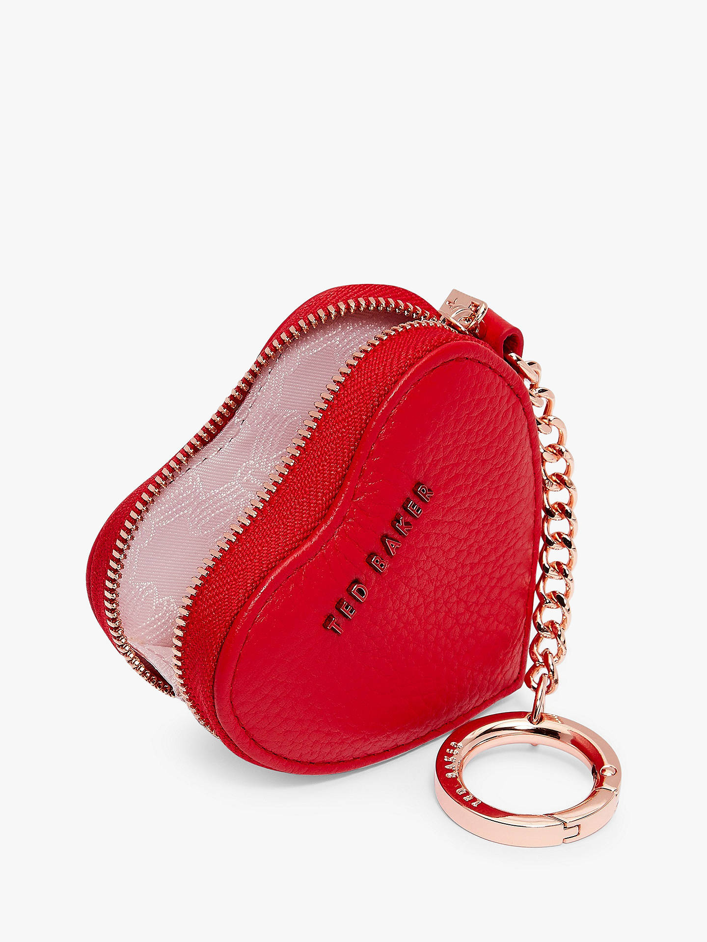 a2690080f Ted Baker Kahi Leather Heart Coin Purse Keyring at John Lewis   Partners