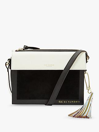 Ted Baker Glacial Leather Suede Cross Body Bag