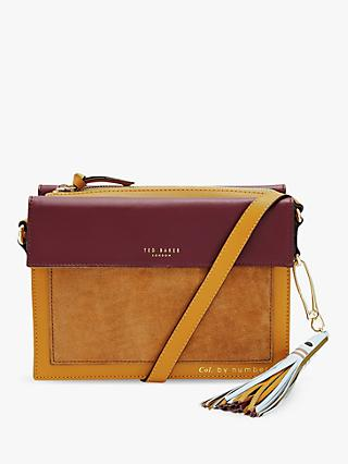 247e9d4493a9c Ted Baker Colour By Numbers Glacial Leather Suede Cross Body Bag