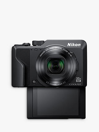 "Buy Nikon COOLPIX A1000 Digital Camera, 16MP, 4K Ultra HD, 35x Optical Zoom, Wi-Fi, Bluetooth, 3"" Tiltable LCD Touch Screen, Black Online at johnlewis.com"