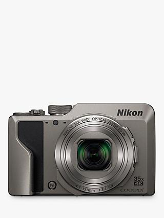 "Nikon COOLPIX A1000 Digital Camera, 16MP, 4K Ultra HD, 35x Optical Zoom, Wi-Fi, Bluetooth, 3"" Tiltable LCD Touch Screen"