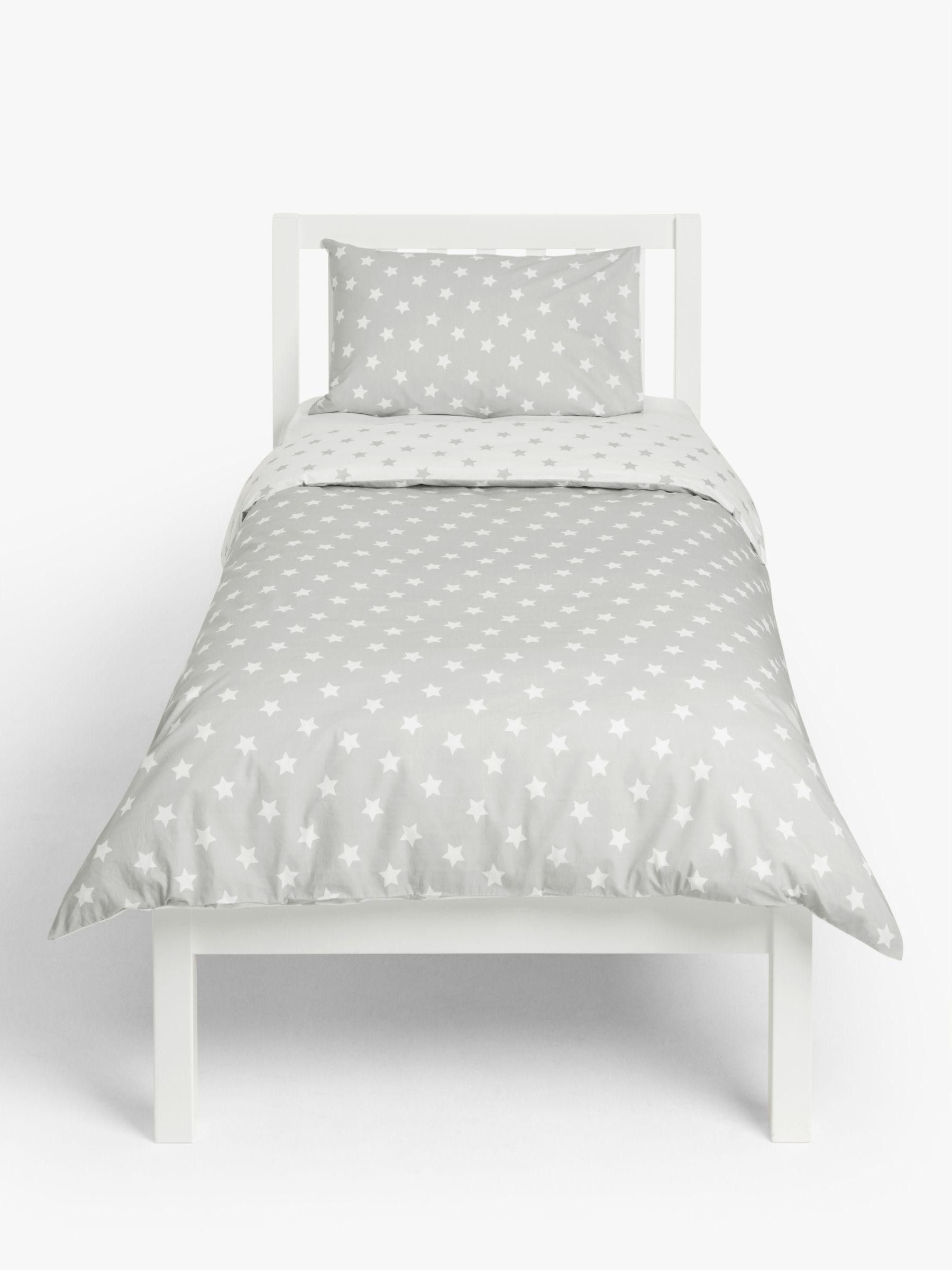 little home at John Lewis little home at John Lewis Star Reversible Duvet Cover and Pillowcase Set, Single, Grey