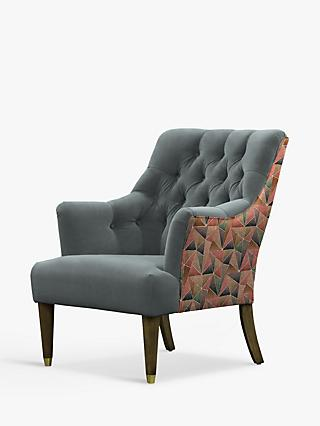 Parker Knoll Fitzrovia Armchair, Bracklyn Charcoal with Welton Aurburn Back