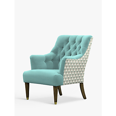 Parker Knoll Fitzrovia Armchair, Bracklyn Teal with Charlotte Teal Back