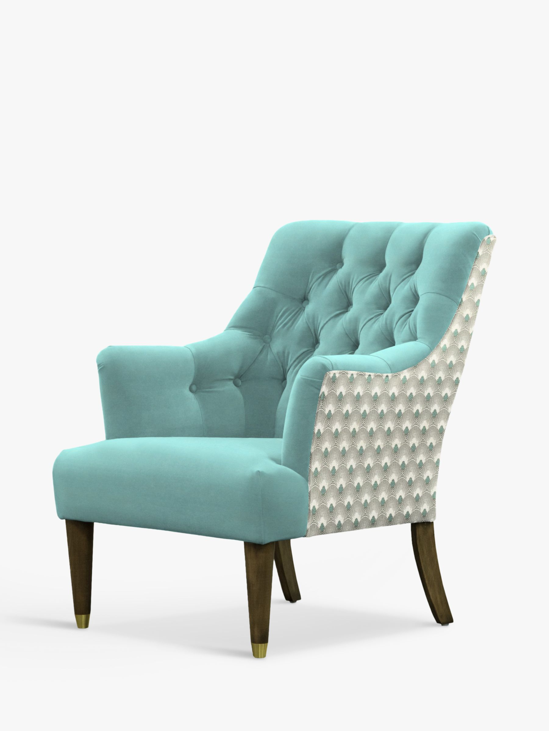 Parker Knoll Parker Knoll Fitzrovia Armchair, Bracklyn Teal with Charlotte Teal Back