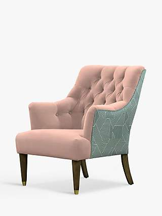 Parker Knoll Fitzrovia Armchair, Bracklyn Blush with Newman Teal Back
