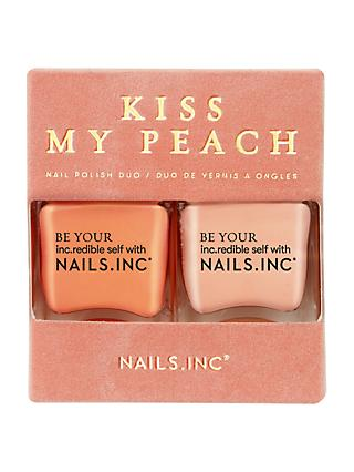 Nails Inc Kiss My Peach Nail Polish Duo