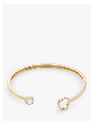 Modern Rarity Diamond Open Circle Bangle, Gold