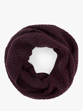 John Lewis & Partners Bubble Stitch Snood, Burgundy
