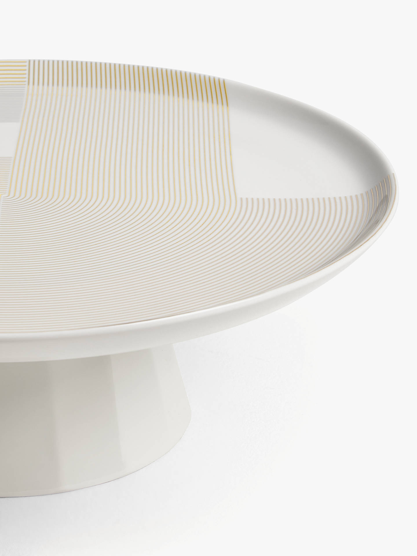Buy John Lewis & Partners Fine China Cake Stand, 30cm, White/Gold Online at johnlewis.com