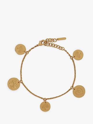 Mulberry Love Coin Chain Bracelet, Gold