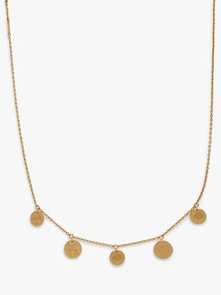 Mulberry Love Coin Chain Necklace, Gold