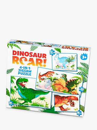 Dinosaur Roar! 4-in-1 Children's Jigsaw Puzzle