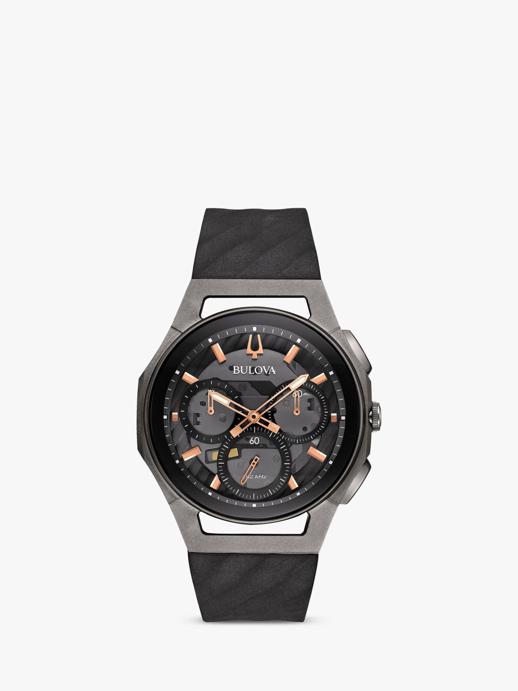 Bulova Bulova Men's Curv Chronograph Rubber Strap Watch