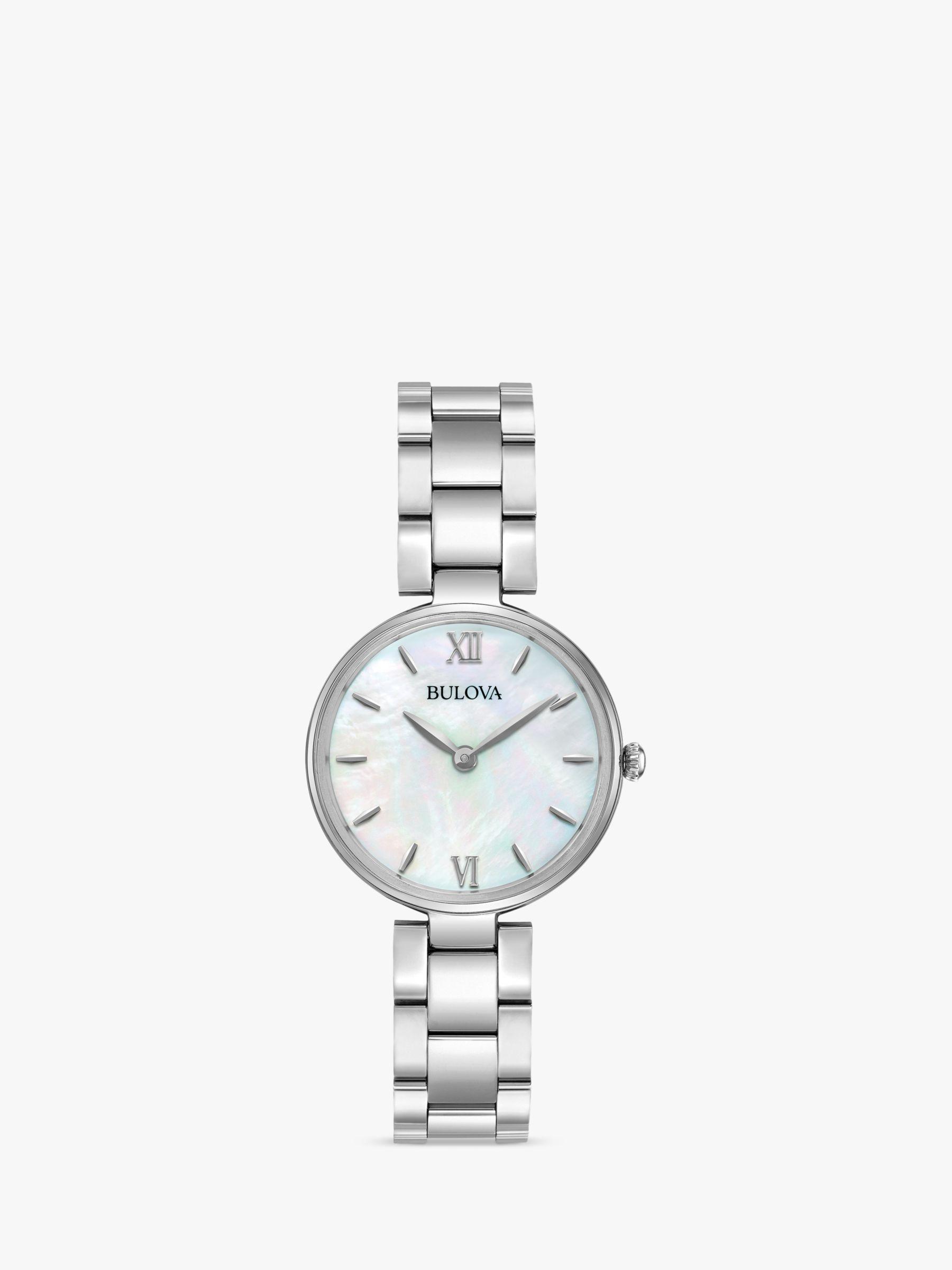Bulova Bulova 96L229 Women's Classic Bracelet Strap Watch, Silver/Mother of Pearl