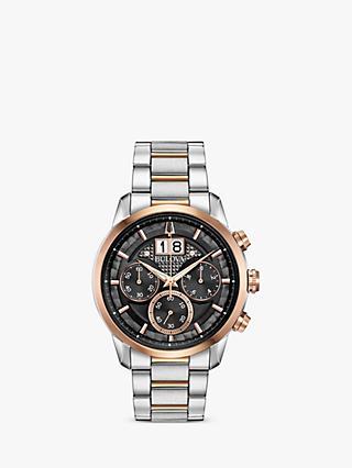 8d6b907eab6 Bulova 98B335 Men s Sutton Date Chronograph Bracelet Strap Watch