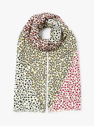 Collection WEEKEND by John Lewis Sweetheart Oblong Cotton Scarf, Multi