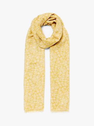 John Lewis & Partners Spiced Waves Scarf, Ochre
