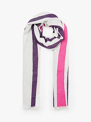 John Lewis & Partners Savannah Jacquard Scarf, Purple Mix