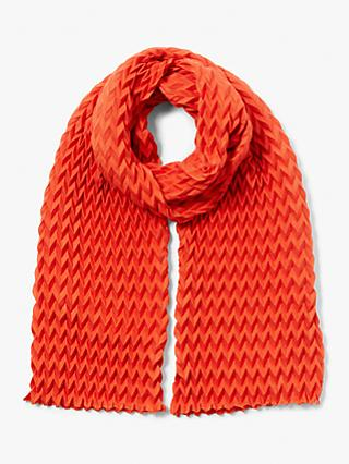 John Lewis & Partners Pleated Scarf