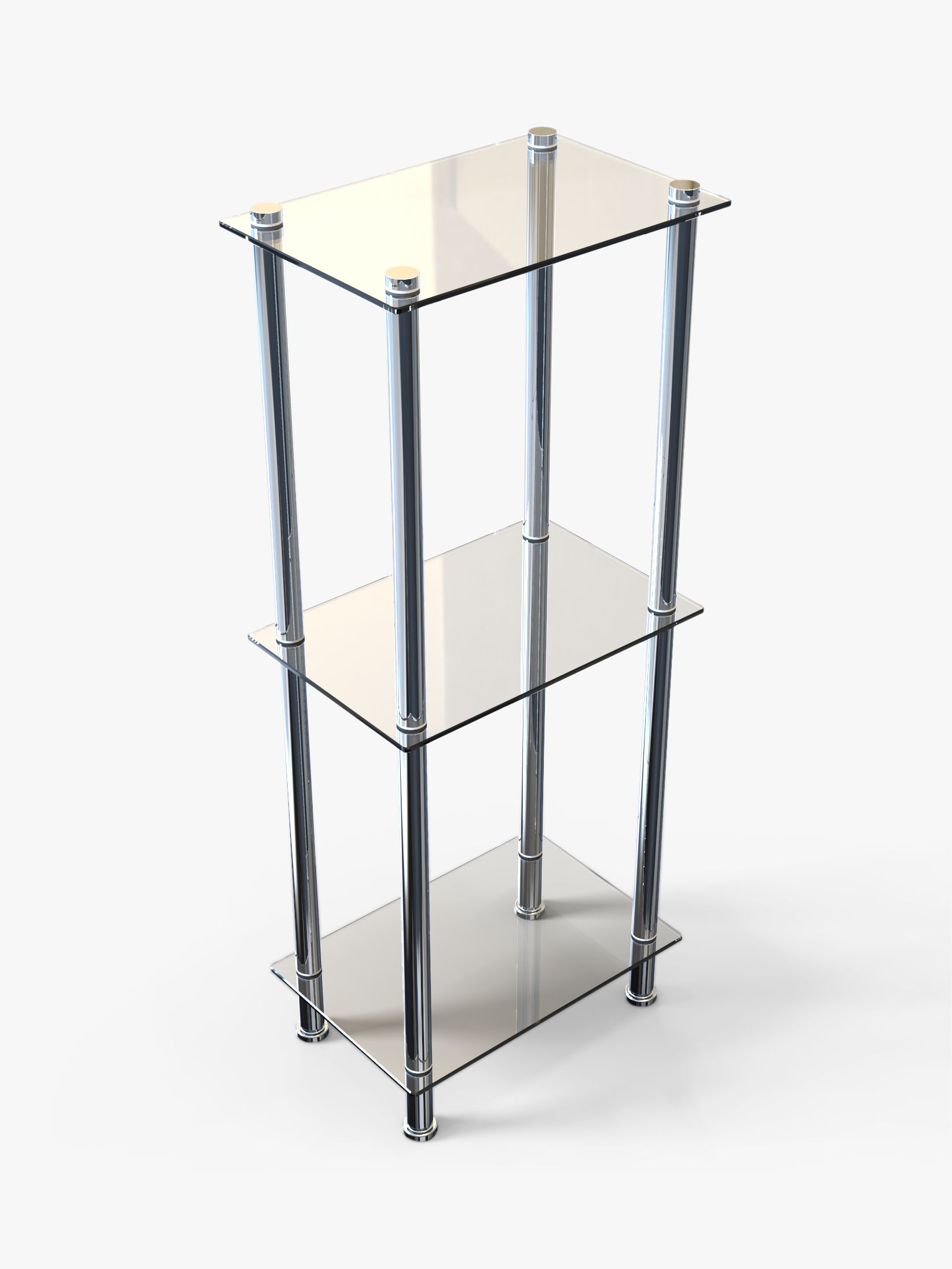 3 Tier Slim Bathroom Shelving Unit