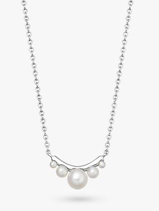 Links of London Small Pearl Pendant Necklace, Silver/White