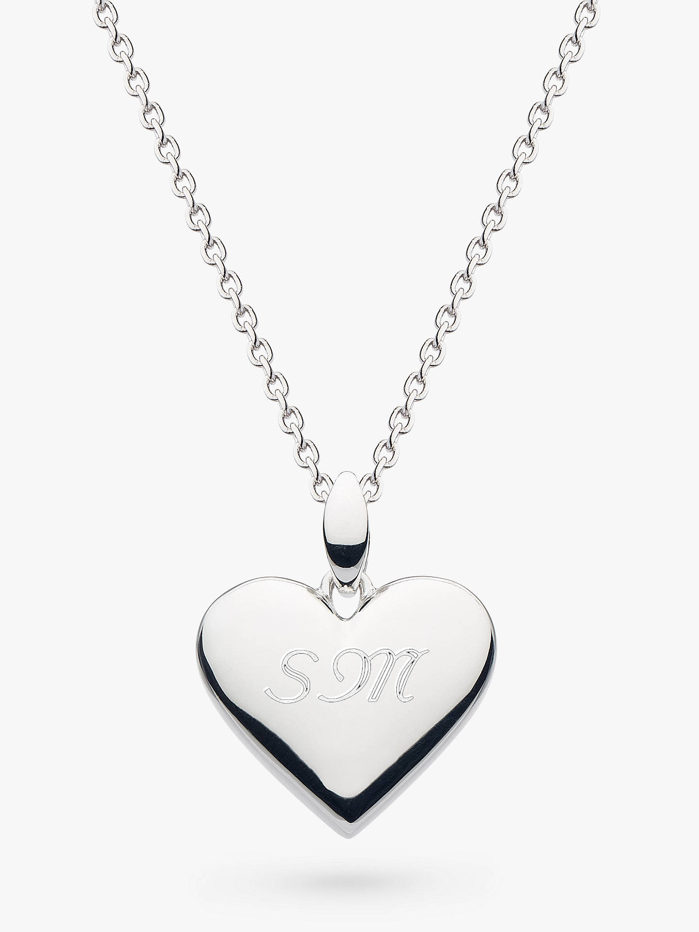 fe9f8ede783 Buy Kit Heath Personalised Sterling Silver Heart Pendant Necklace, Silver  Online at johnlewis.com