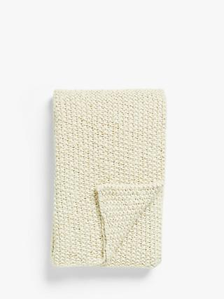 Croft Collection Chunky Knit Throw, Natural