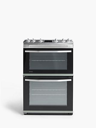 John Lewis & Partners JLFSMC621 Double Dual Fuel Cooker, A Energy Rating, Silver