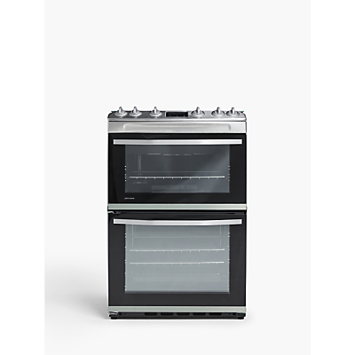 John Lewis & Partners JLFSGC618 Double Gas Cooker, A Energy Rating, Silver