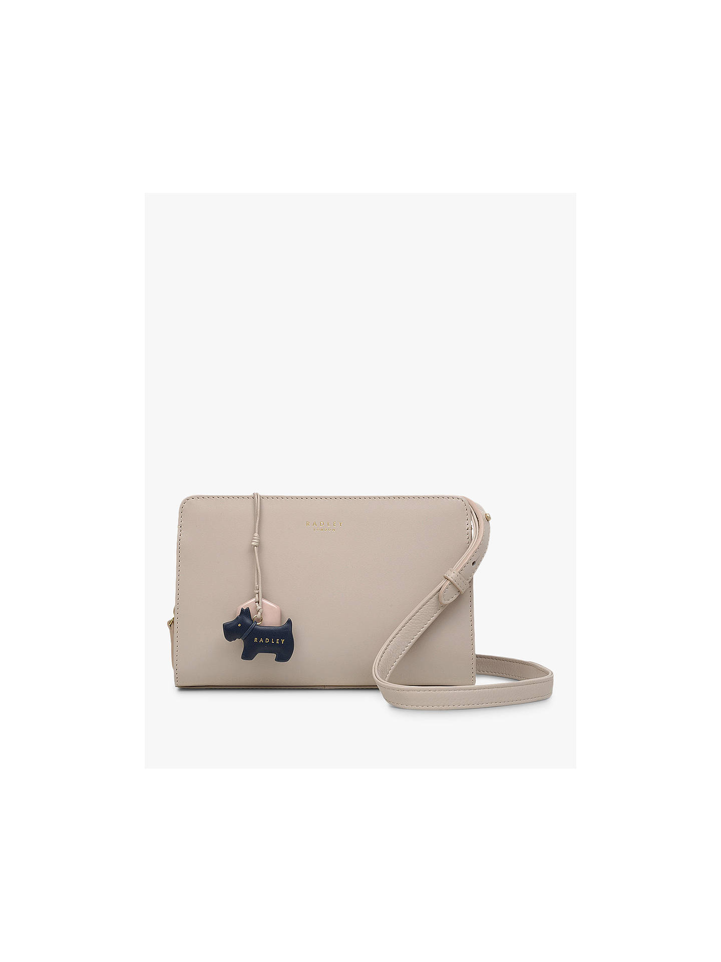 4bfd5f516 Buy Radley Liverpool Street Leather Medium Cross Body Bag, Dove Grey Online  at johnlewis.