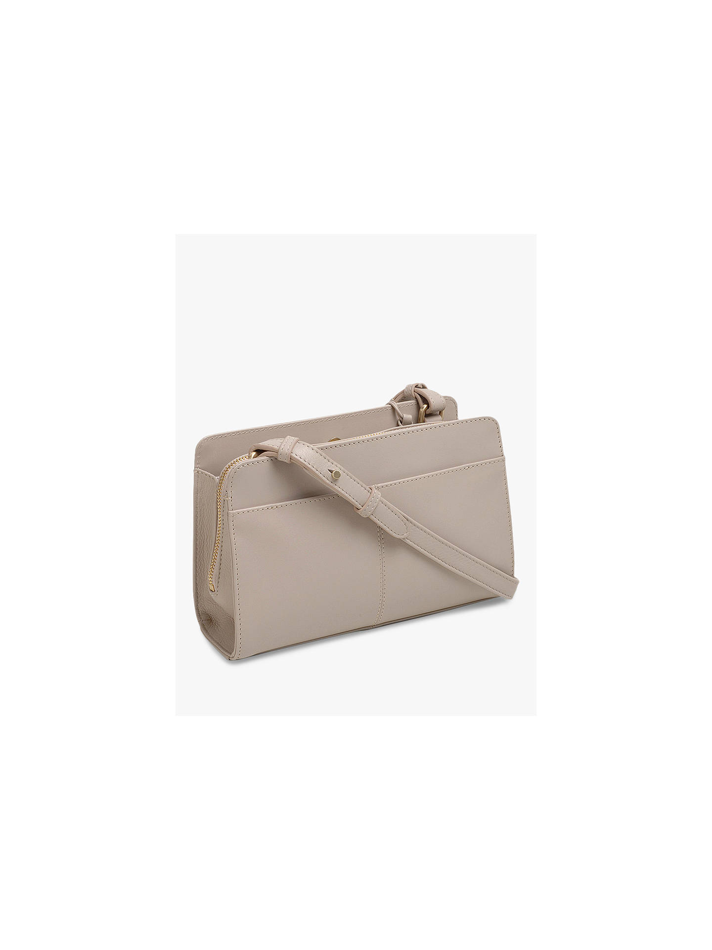 Buy Radley Liverpool Street Leather Medium Cross Body Bag, Dove Grey Online at johnlewis.com
