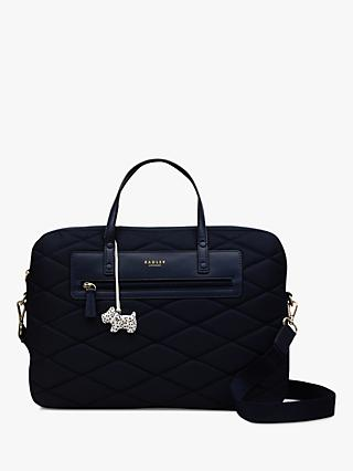 2aa87e3309e6 Radley Charleston Quilted Fabric Large Laptop Bag
