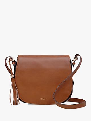 9f99f78463 Radley Painters Mews Leather Medium Flap Over Cross Body Bag