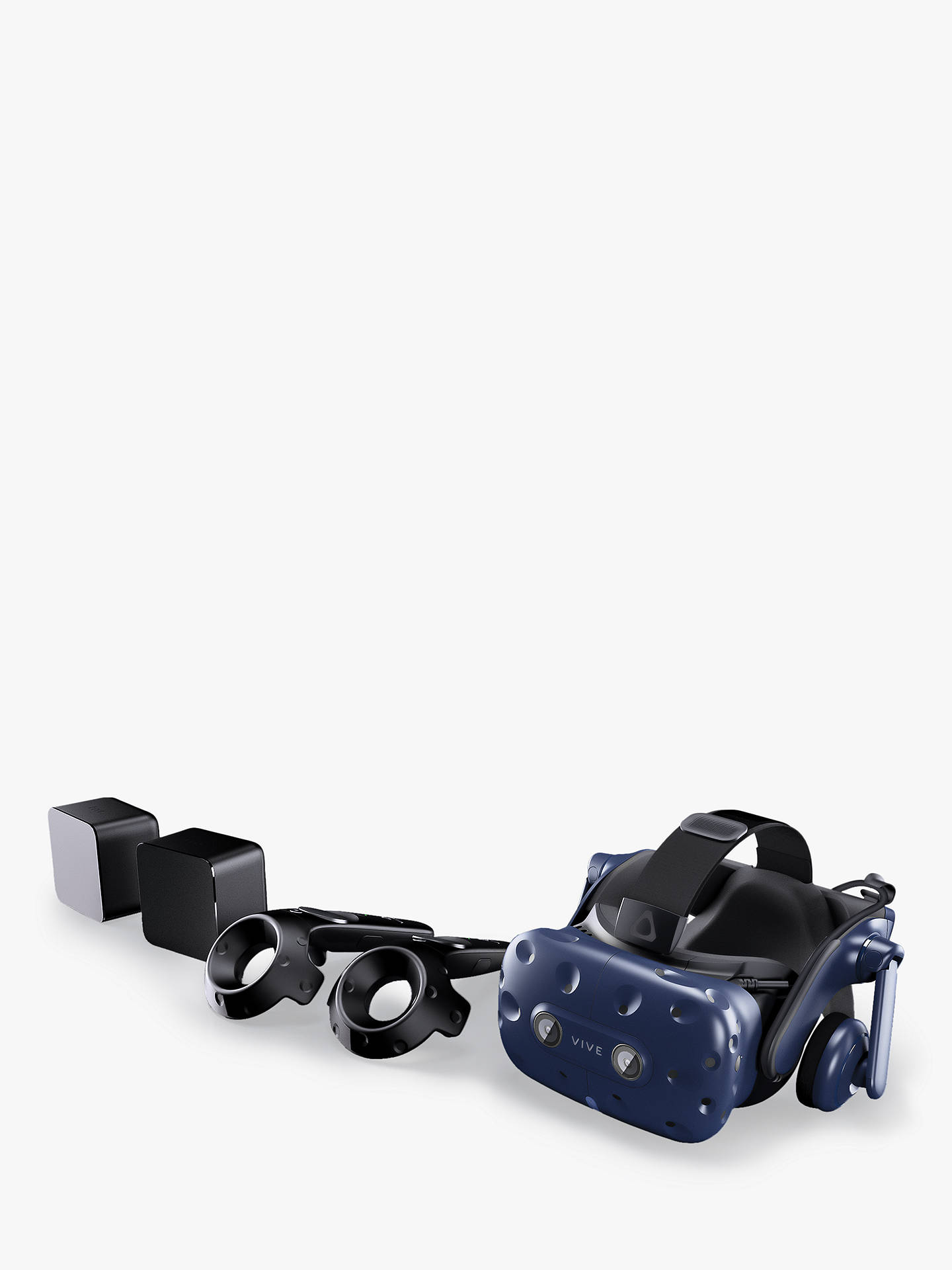 Buy HTC Vive Pro VR Starter Kit, VR Headset, x2 Base Stations, x2 Controllers and Accessories Online at johnlewis.com