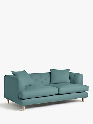 Chester Range, John Lewis & Partners Chester Large 3 Seater Sofa, Light Leg, Lucca Soft Teal Velvet