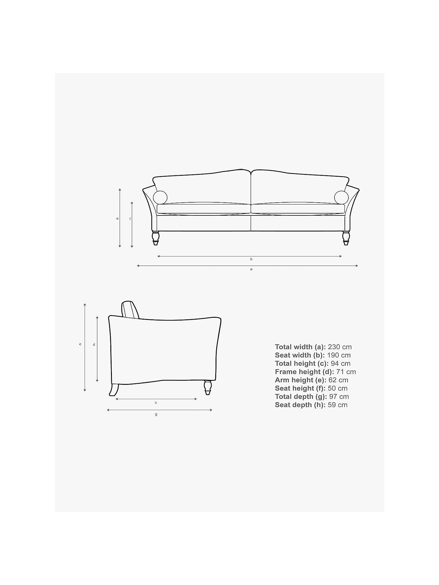 Buy Duresta Vaughan II Grand 4 Seater Sofa, Eton Velvet Grape Online at johnlewis.com