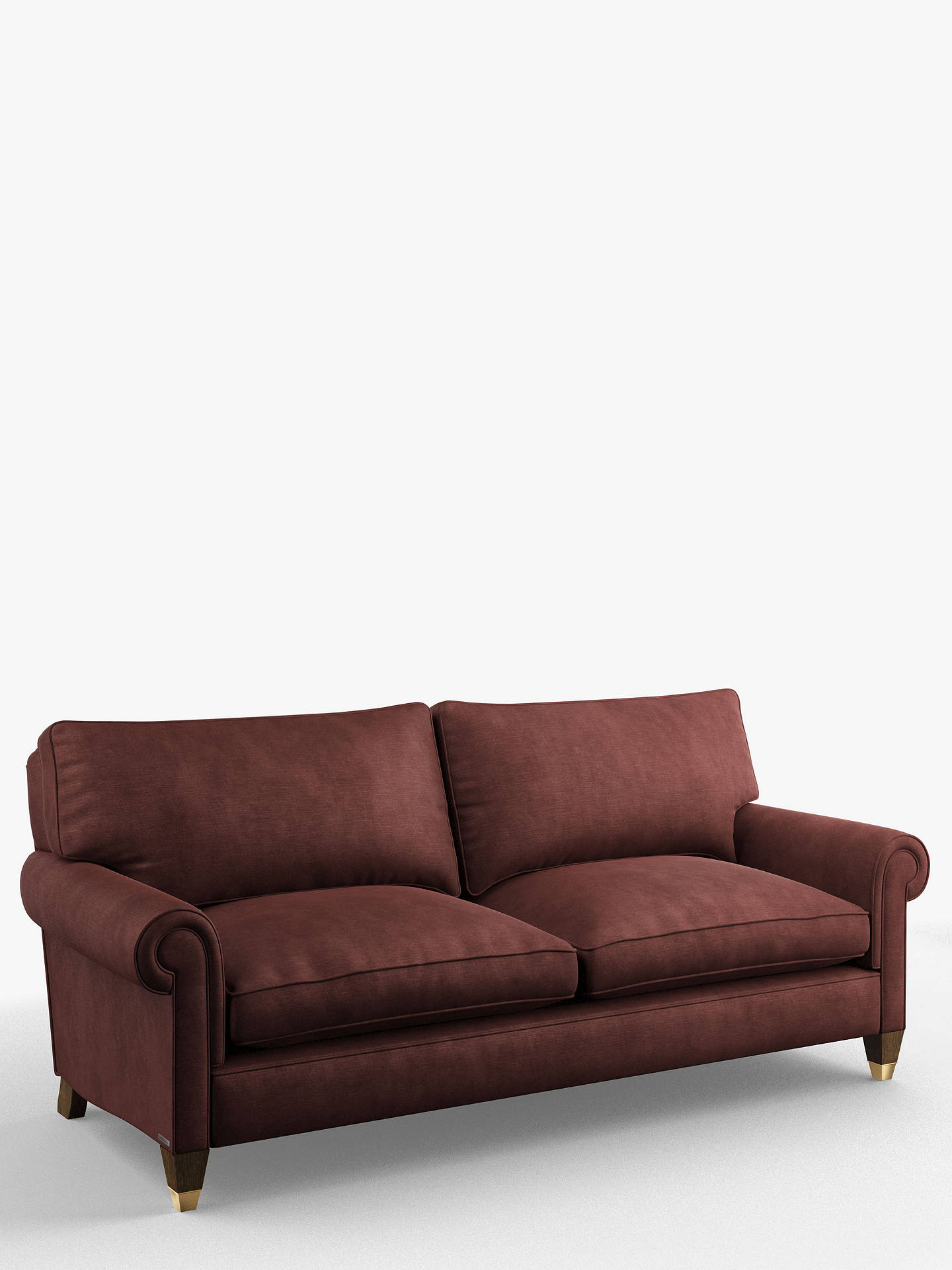 Buy Duresta Clarke Grand 4 Seater Sofa, Tate Velvet Oxblood Online at johnlewis.com