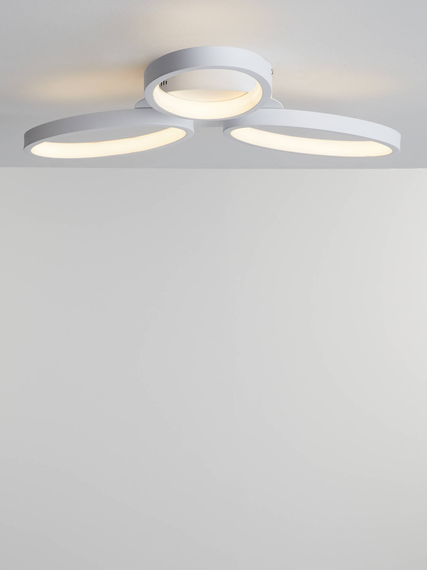 John Lewis Partners Ovals Led Semi Flush Ceiling Light White At John Lewis Partners