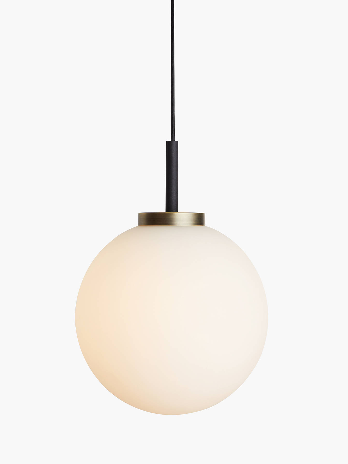 John Lewis & Partners Matinee Globe Ceiling Light, Black/Brass by John Lewis & Partners