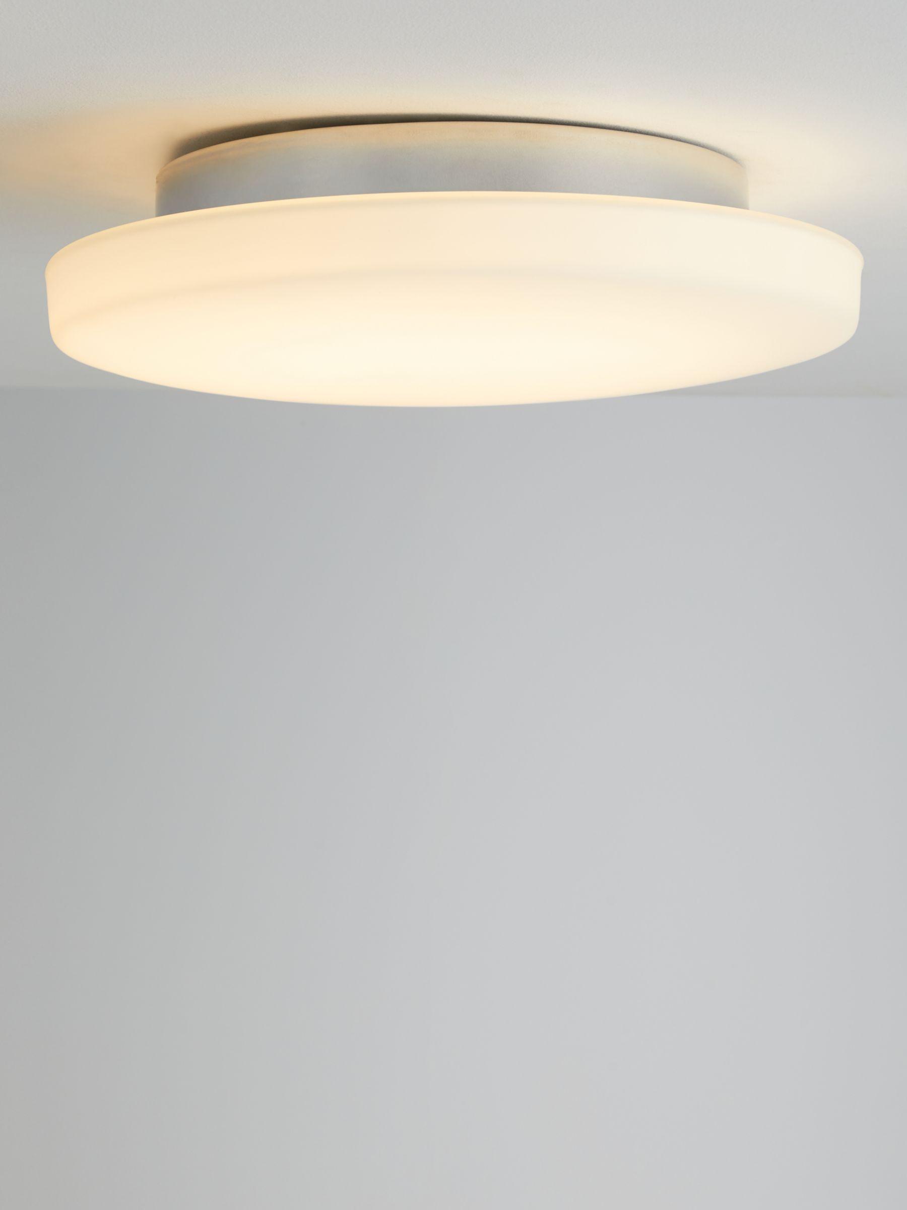 John Lewis Partners Moonbeam Led Flush Bathroom Ceiling Light White At John Lewis Partners