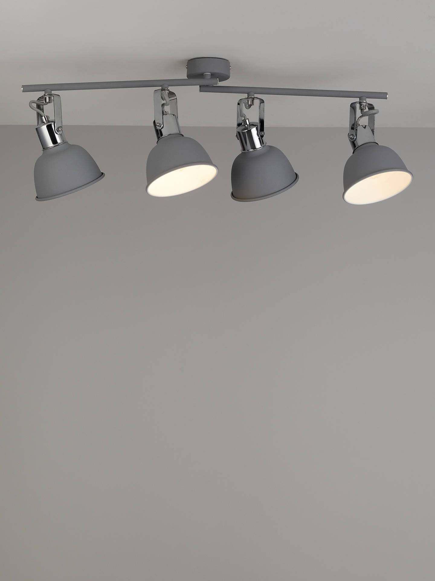 Ses Led 4 Spotlight Ceiling Bar Grey