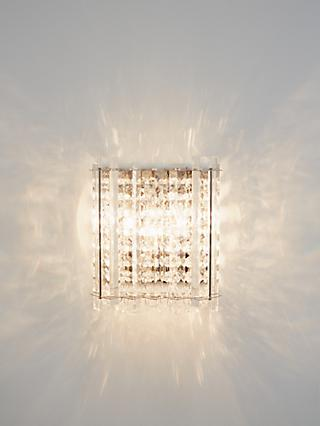 John Lewis & Partners Dazzle Crystal Mirrored Wall Light, Clear