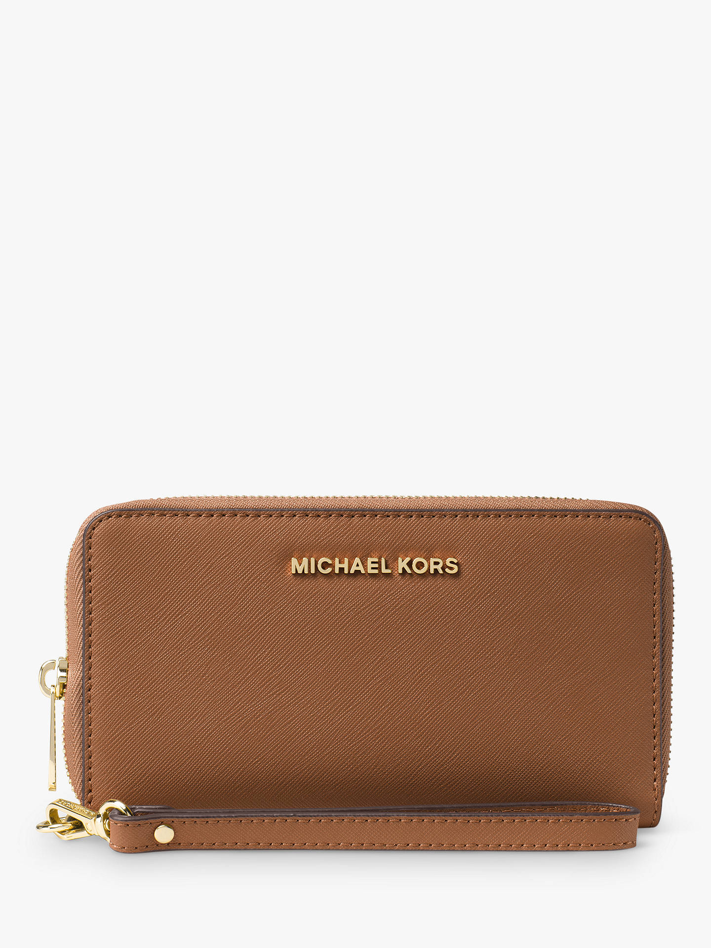 43cca0f7630f Buy MICHAEL Michael Kors Jet Set Large Leather Travel Phone Case Purse,  Luggage Online at ...