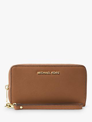 MICHAEL Michael Kors Jet Set Large Leather Travel Phone Case Purse, Luggage