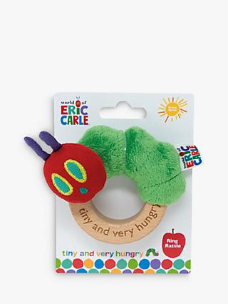 Very Hungry Caterpillar Tiny Soft Ring Rattle, Multi